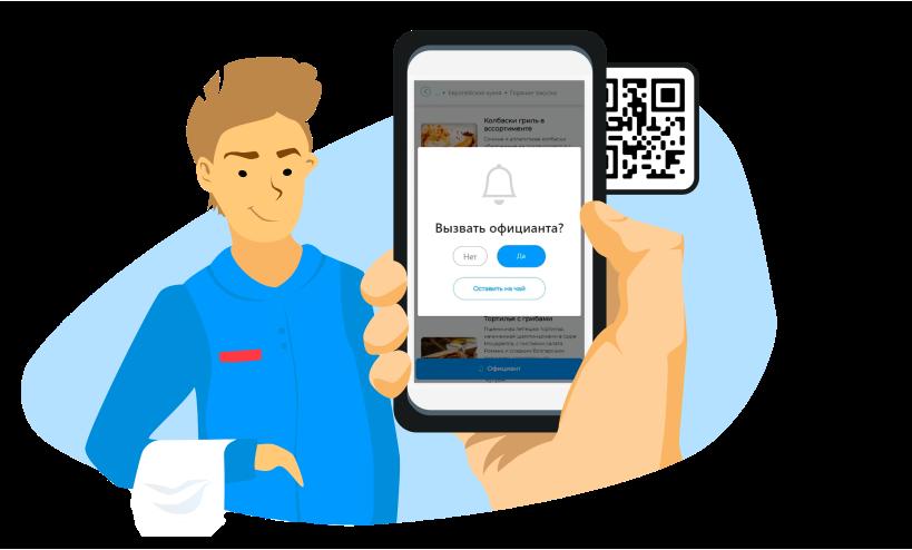 приложение на телефоне для вызова официанта
