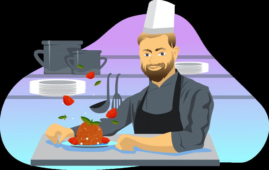 шеф-повар на кухне